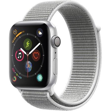 Refurbished Apple MU6C2LL/A Watch Gen 4 Series 4 44mm Silver Aluminum - Seashell Sport Loop ()
