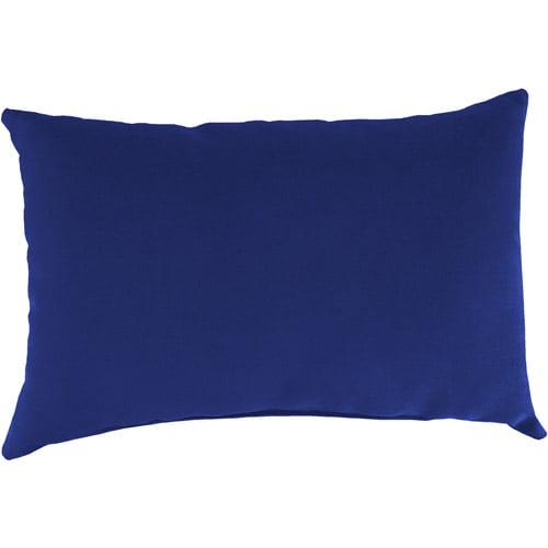 Jordan Manufacturing Indoor/Outdoor Patio Rectangular Toss Pillow, Veranda Cobalt