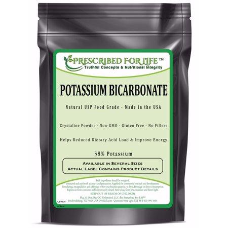 Potassium Bicarbonate - Natural USP Food Grade Crystalline Powder - 39% K, 1