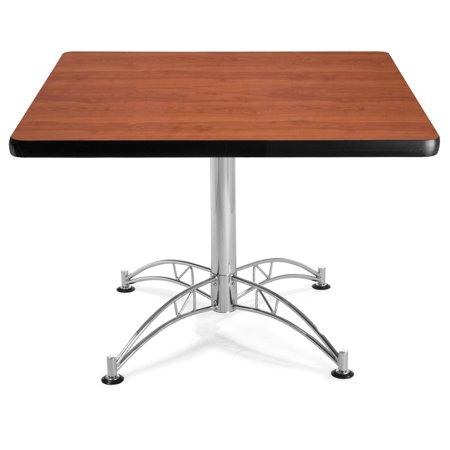 KLT42SQ-CHY restaurant Furniture 42 Inch Multi-Purpose scratch Proof CHERRY Flip laminate Top SQUARE cafeteria Bar Table