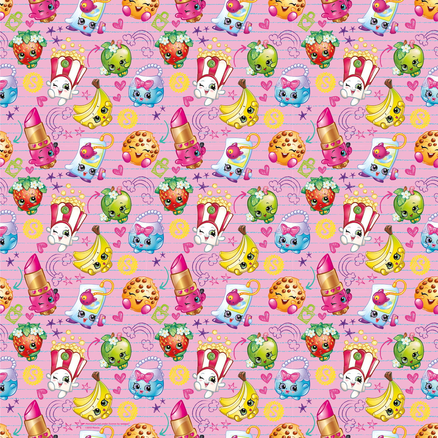 shopkins wrapping paper 5 x 2 5 ft 1ct walmart com