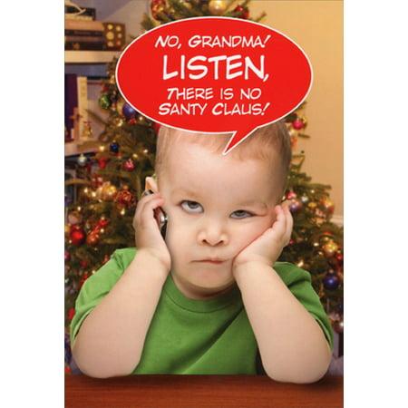 Nobleworks Listen Grandma Funny Christmas Card (Grandma Moses Christmas Cards)