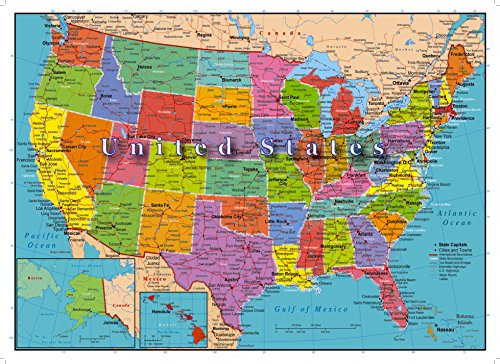 United States Of America Map 1000 Piece Jigsaw Puzzle Highways Rivers State Capitals Walmart Canada