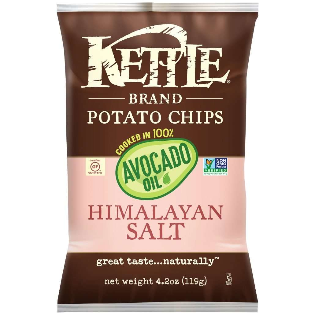 Kettle Brand Potato Chips Cooked in 100% Avocado Oil, Him...