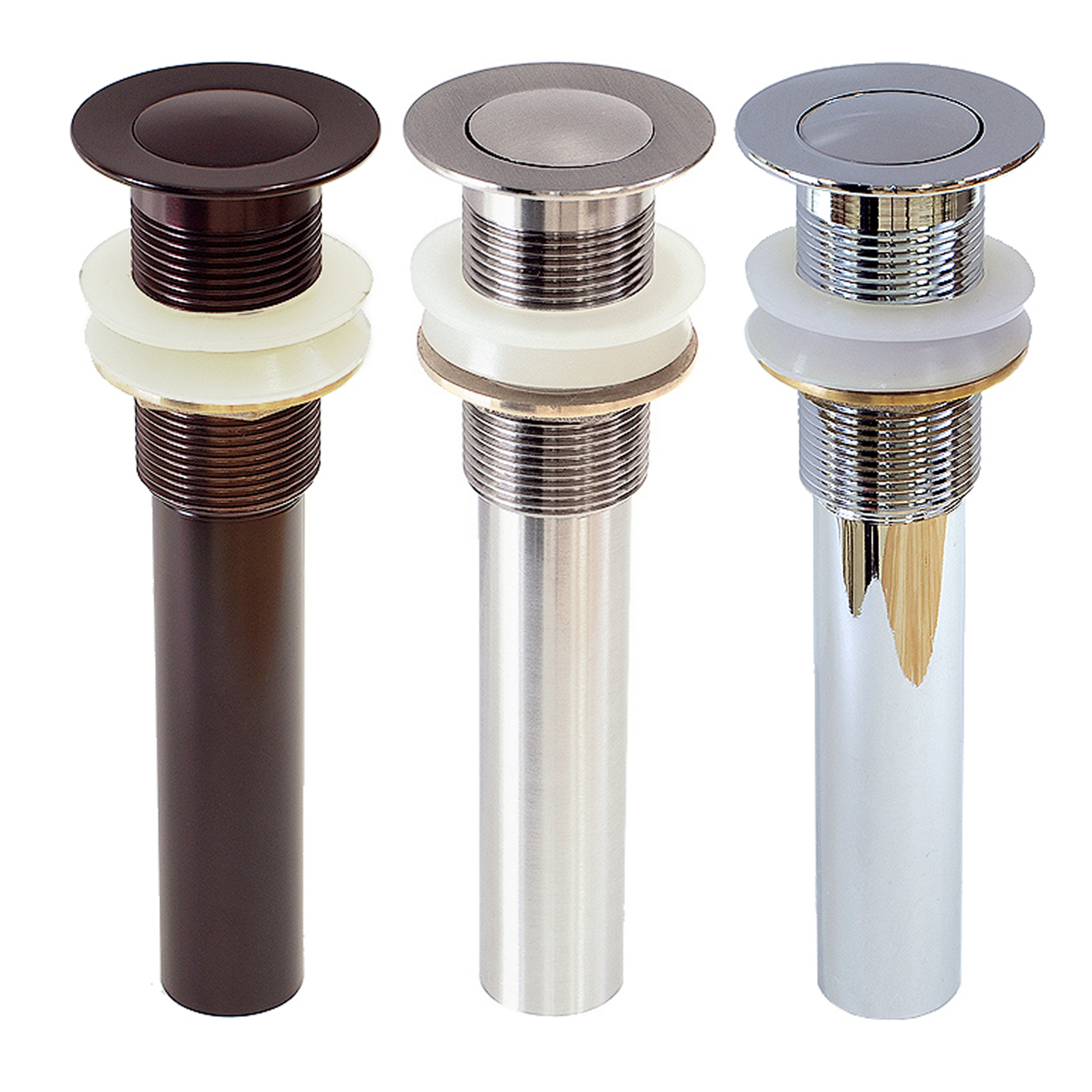 FREUER Faucets Pop Up Non-Overflow Bathroom Vessel Sink Drain - Multiple Finishes Available
