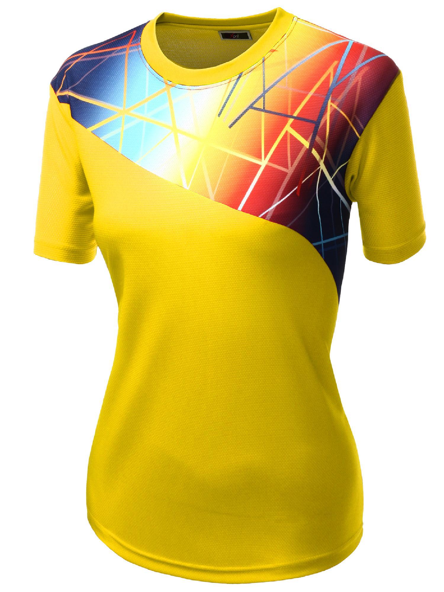 5046dc38 FashionOutfit - FashionOutfit Women's Coolever Premium Sporty T-Shirt -  Walmart.com