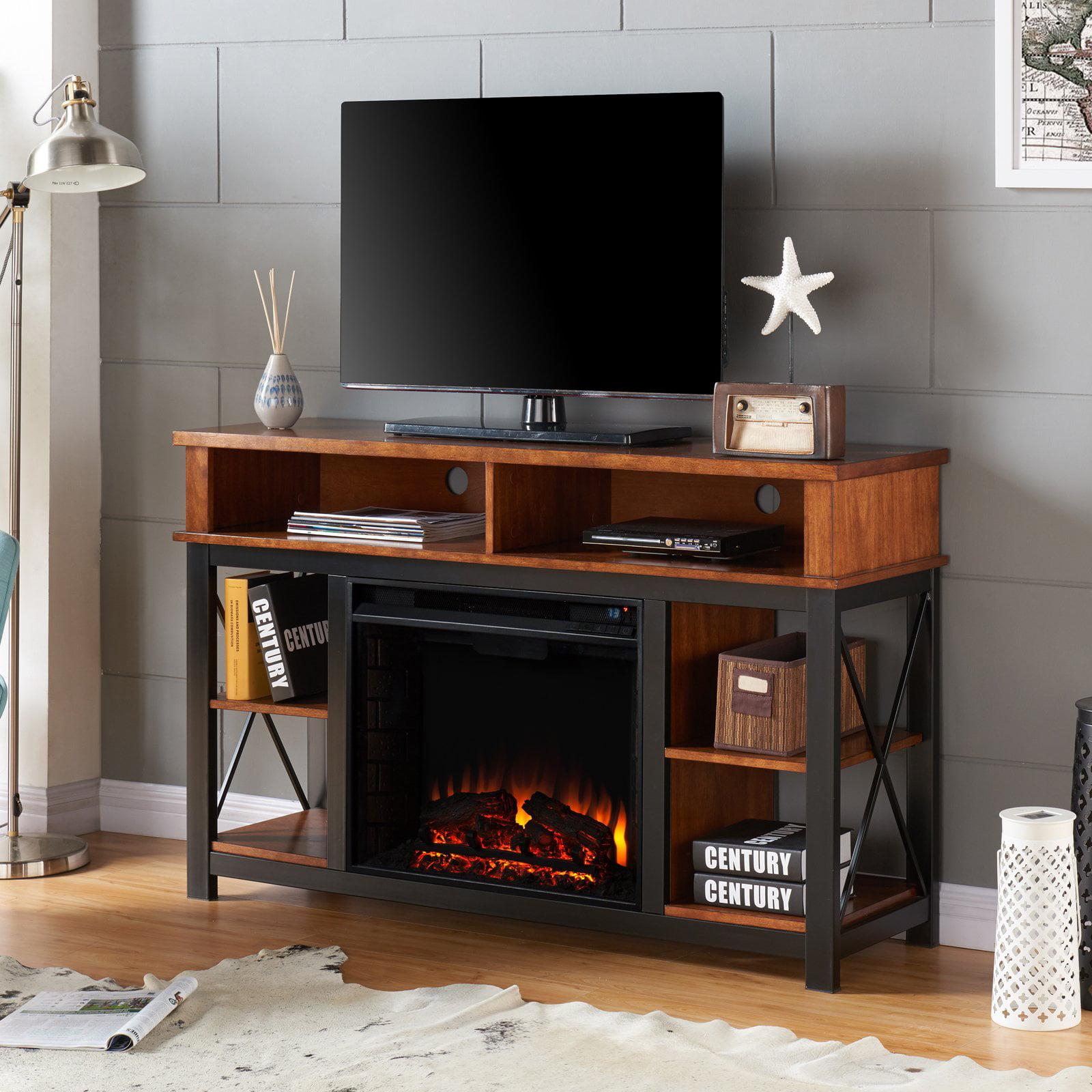 Southern Enterprises Edwards Electric Fireplace Tv Stand Walmartcom