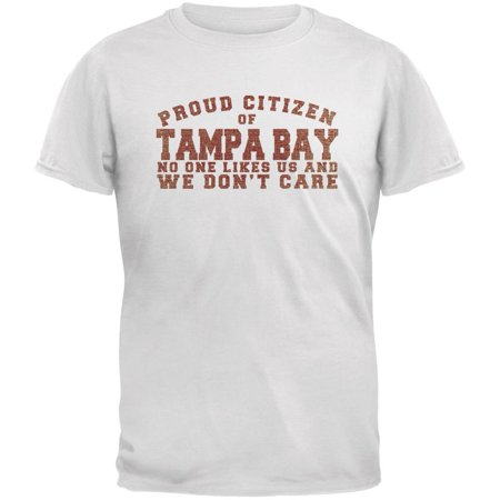 Proud No One Likes Tampa Bay White Adult T Shirt