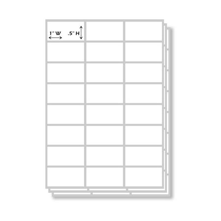 Self Adhesive Labels (All Purpose Plain White Rectangular Self Adhesive Labels, 1