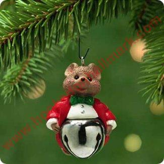 Hallmark Ornament 2001 Christmas Bells #7 - Mouse-  Miniature