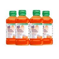 (4 pack) Parent's Choice Pediatric Electrolyte Solution, Orange, 1 Liter