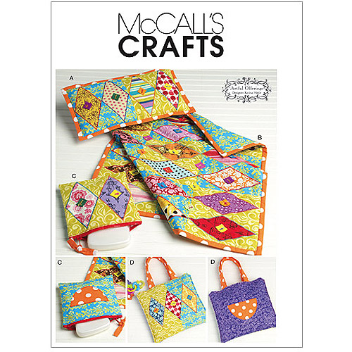Mccall's Pattern Pillow, Mini Quilt, Zip