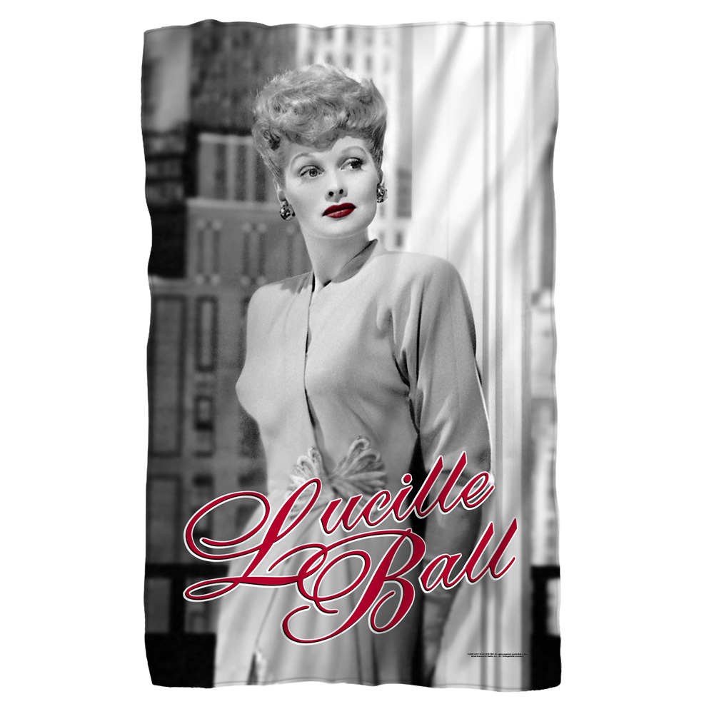 Lucille Ball 1950's Comedian Actress Icon City Photo Fleece Blanket