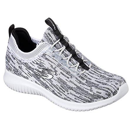 1eca12e9885a8 Skechers - 12831 White Black Skechers Shoe Memory Foam Women Slip On  Comfort Walk Soft Mesh 12831WBK - Walmart.com