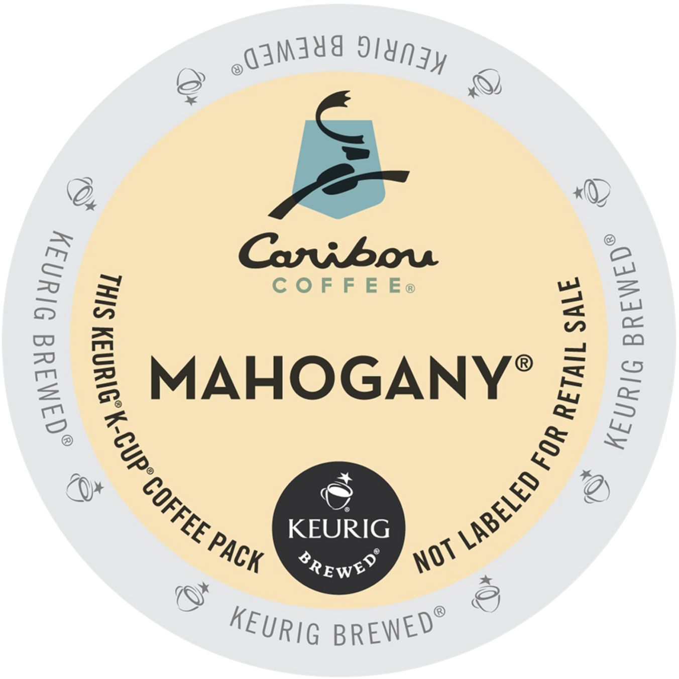 Caribou Mahogany Coffee, K-Cup Portion Pack for Keurig Brewers (96 Count) (4x16oz)