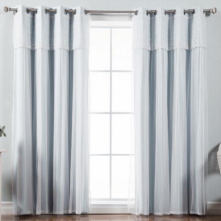 Best Home Fashion, Inc. Mix & Match Tulle Sheer Blackout Curtain Panel (Set of