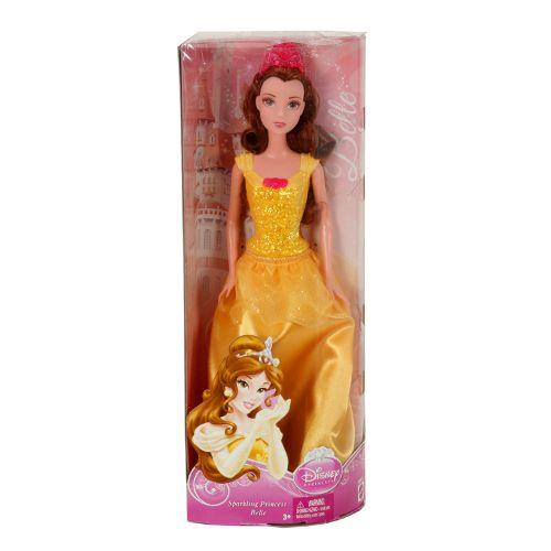 Mattel Disney Sparkle Princess Belle Doll - Assortment Doll - BBM23