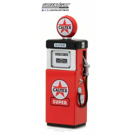 1951 Wayne 505 Caltex Gas Pump, Red - Greenlight 14040B - 1/18 Scale Diecast Model Toy Car (Gas Toy Cars)