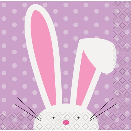 Cute Easter Paper Beverage Napkins, 5 in, 16ct](Easter Paper)