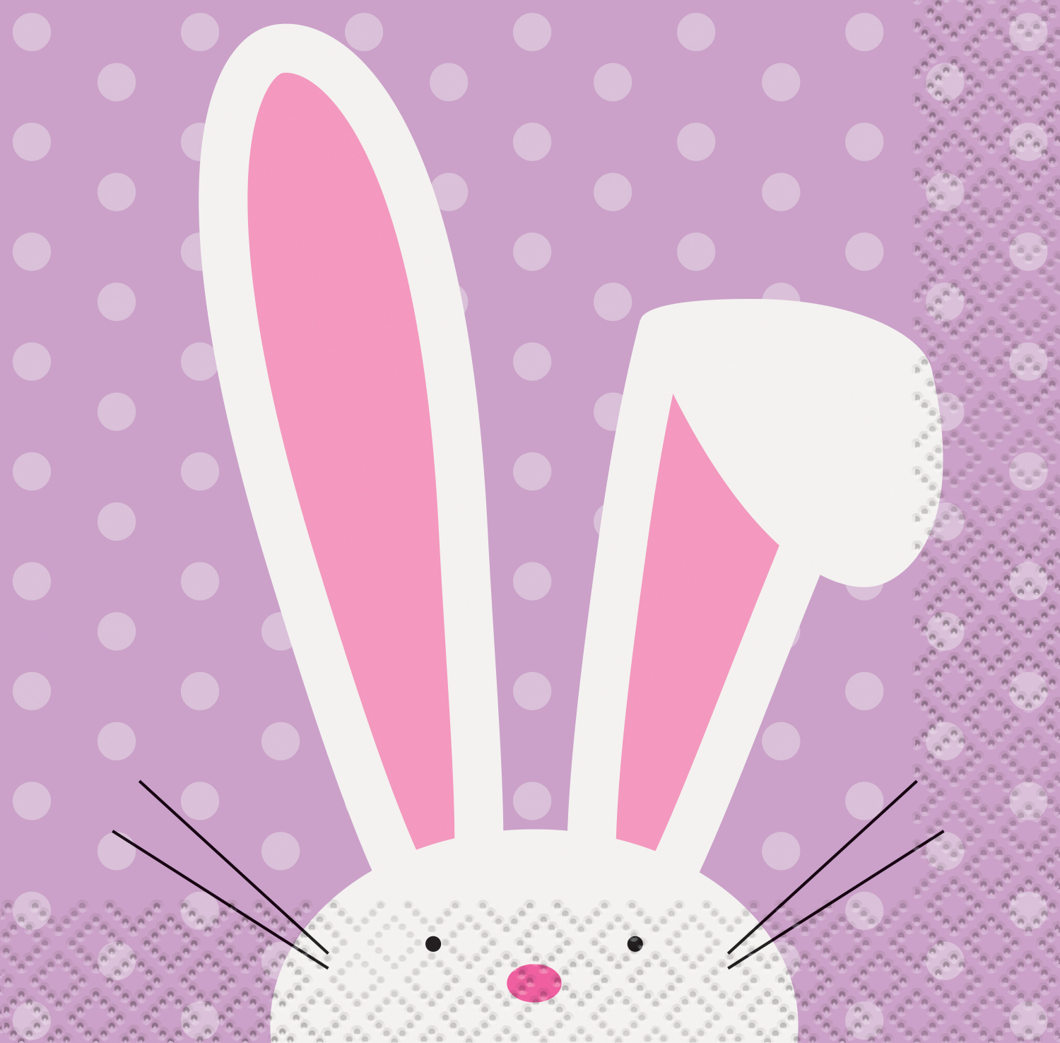Cute Easter Paper Beverage Napkins, 5 in, 16ct