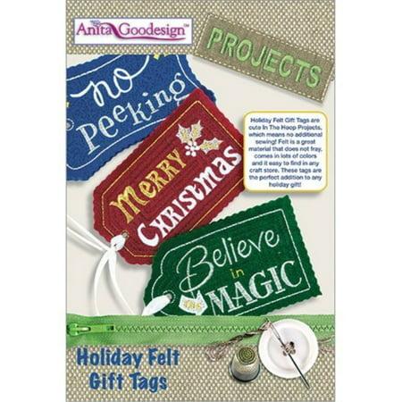 Anita Goodesign Projects Holiday Felt Gift Tags PROJ67