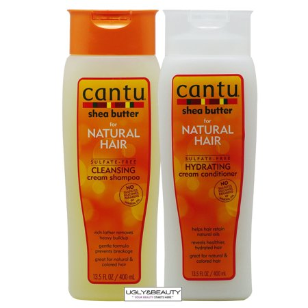 Cantu Shea Butter Hydrating Cream Shampoo+Conditioner Duo 13.5oz / 400ml