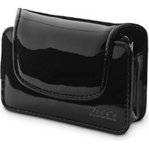 Chic Patent Camera Case for Cameras up to 4.1 x 1.2 x 3.1 inches (Black)