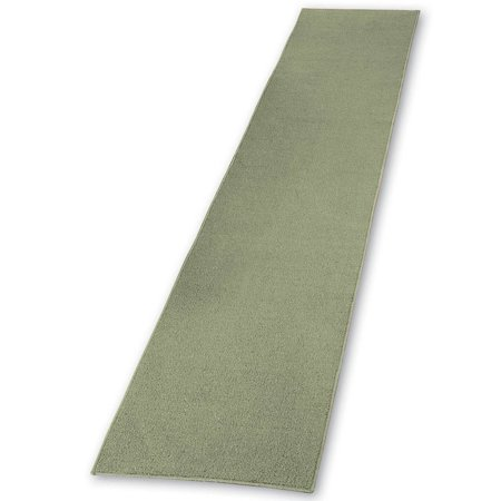 Extra Long Skid-Resistant Floor Hallway Kitchen Runner Rug, Sage, 20