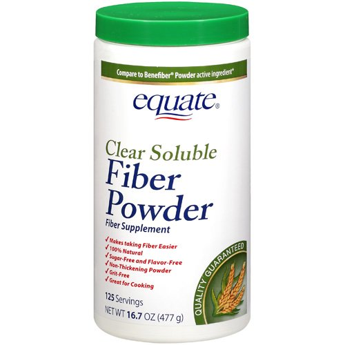 Equate: 125 Servings Clear Soluble Fiber Powder Fiber Supplement, 16.7 Oz