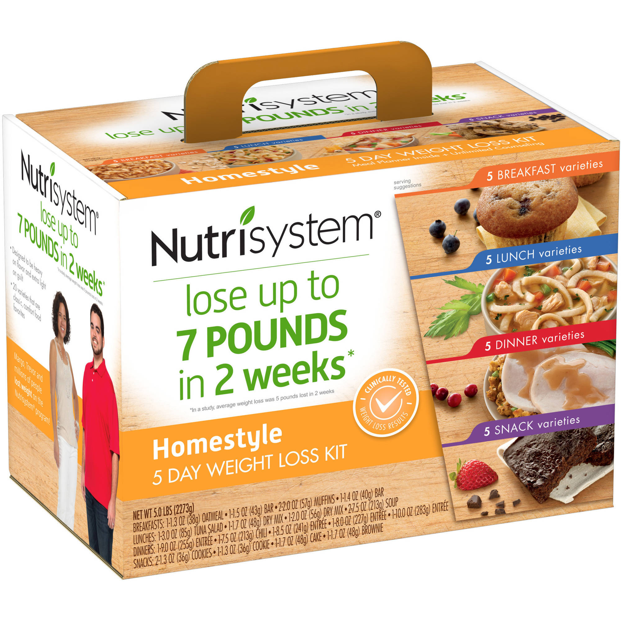 Nutrisystem 5 Day Homestyle Weight Loss Kit