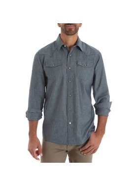 f3fb7de27a Product Image Men s Long Sleeve Western Snap Shirt. Sponsored product.  Wrangler