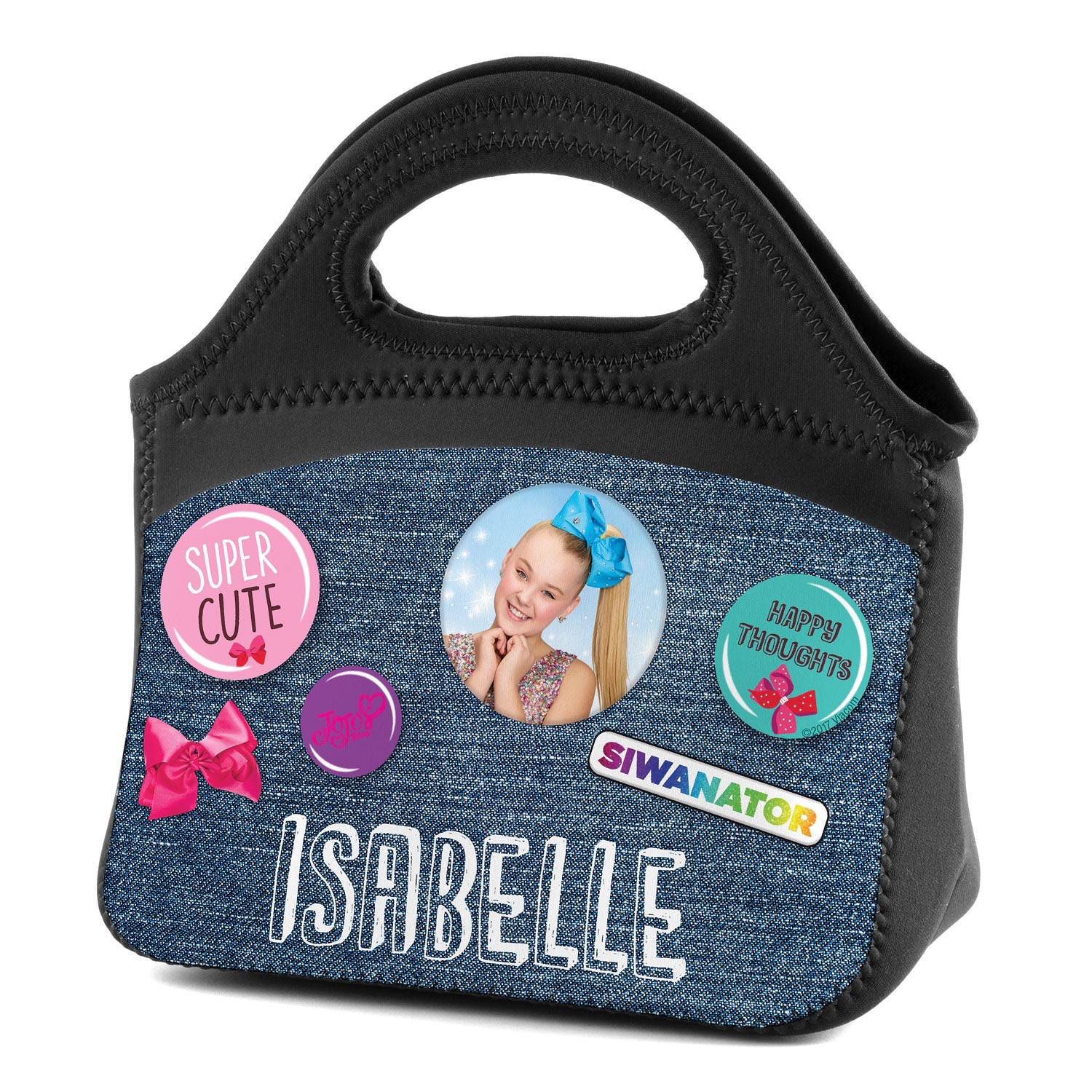 Personalized Lunch Tote - JoJo Siwa Buttons
