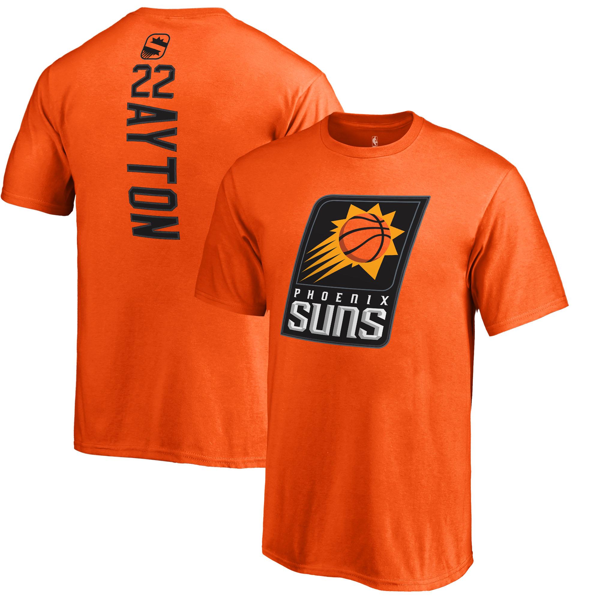 DeAndre Ayton Phoenix Suns Fanatics Branded Youth Team Backer Name & Number T-Shirt - Orange