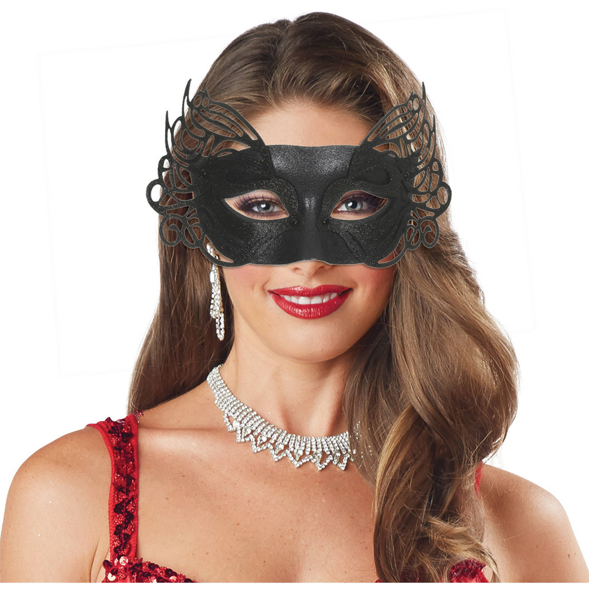 Winged Laser Masquerade Mask Adult Halloween Costume Accessory