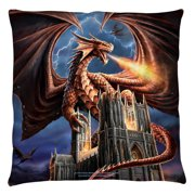 Anne Stokes Dragon'S Fury Throw Pillow White 20X20