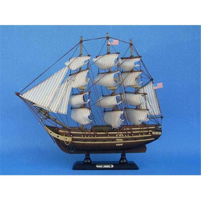 Handcrafted Model Ships B0804 USS Constitution 15 inch Decorative Tall Model Ship