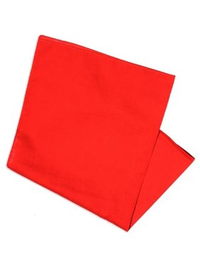 """Basico 100% Cotton Head Wrap Solid Bandanas 12 Pack 22""""x22"""" (Red)"""