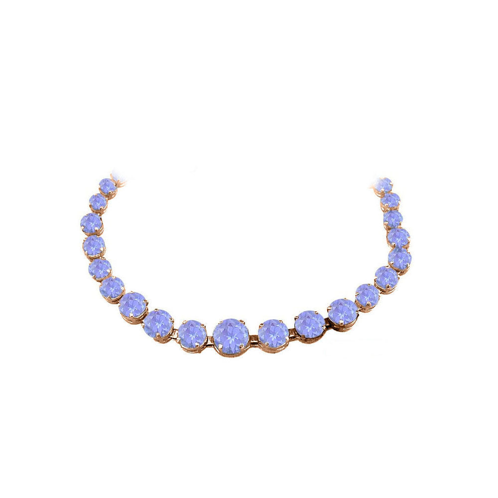 Tanzanite Graduated Necklace in 14K Rose Gold Vermeil by Love Bright