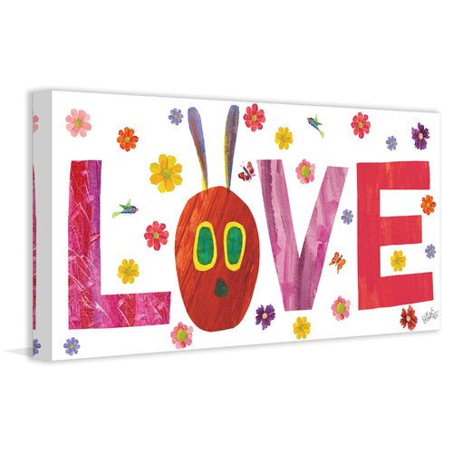 Eric Carle Caterpillar Love 2 Art Print on Premium Canvas