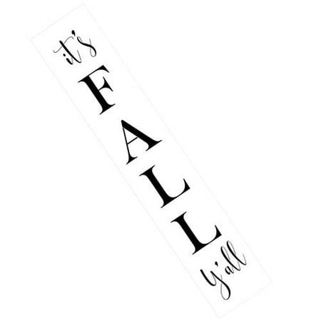 Happy FALL Y'all Sign Stencil by Designer Stencils (5 mil plastic)