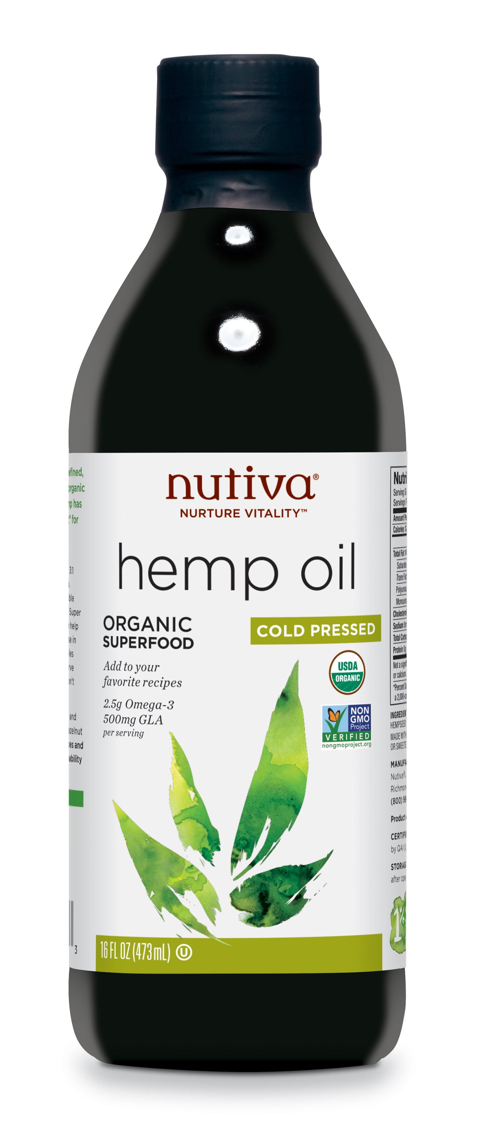 Nutiva Hemp Oil Organic Cold Pressed 16 Fl Oz Walmart Com Walmart Com