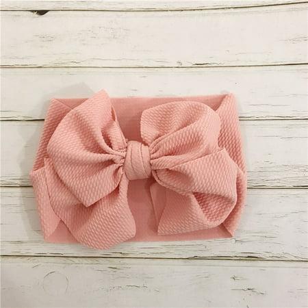 Pink Bow Headband Infant Bow Bow Headband Newborn Headband Cream Bow Headband Baby Gift Toddler Bow Headband Baby Bow