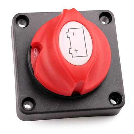 Battery Switch, 6V 12V 24V 48V 60V Battery Disconnect Master Cut Shut Off Switch for Marine, Boat, RV, ATV, Vehicles, Waterproof Heavy Duty Battery Isolator Switch, 275/1250 Amps ()