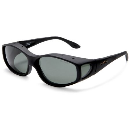 Haven Over-Prescription Sunwear Biscayne Sunglasses,Black Frame/Gray Lens,one (Optical Frame Sample Bags)