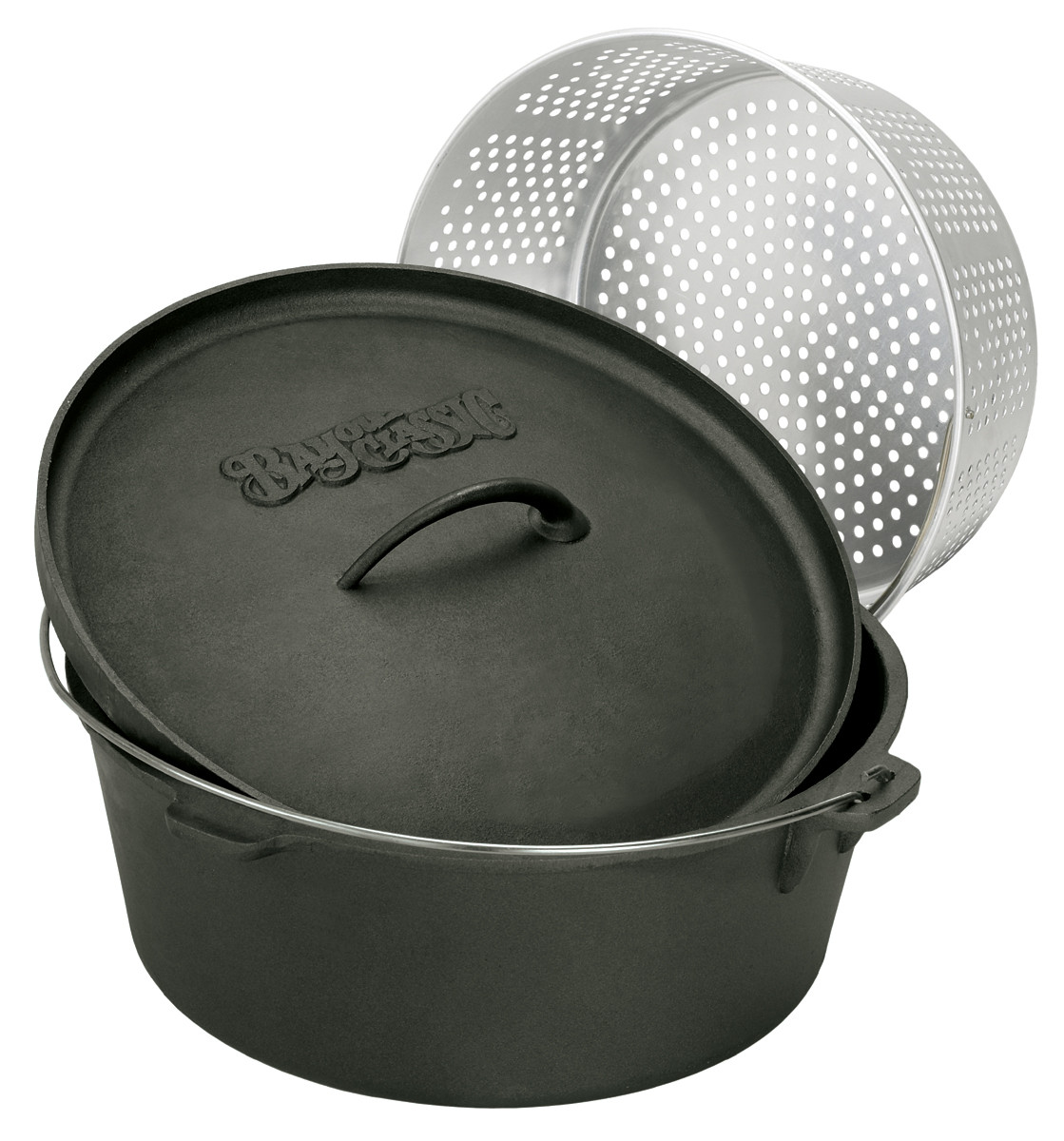 Bayou Classic 7420 20-Quart Cast Iron Dutch Oven with Dutch Oven Lid and Perf... by