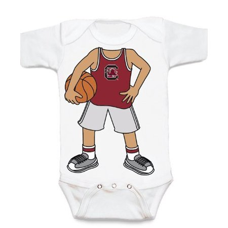 90456d2b2 South Carolina Gamecock Heads Up! Basketball Baby Onesie - Walmart.com