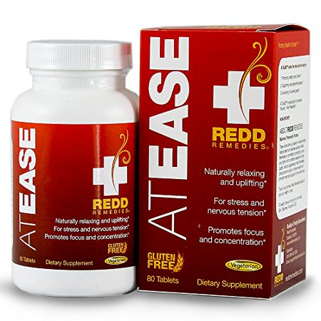 Redd Remedies At Ease - Natural Anxiety Relief Supplement - Promotes Healthy Brain Function - Naturally Relaxes The Body For Sleep - 80