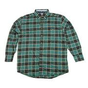 Wrangler Mens George Strait Long Sleeve Flannel Plaid Shirt MGS08GM (Medium)