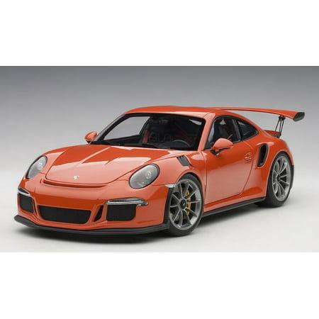 Porsche 911 (991) GT3 RS Lava Orange with Dark Grey Wheels 1/18 Model Car by Autoart ()