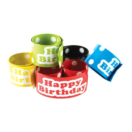 (Price/PK)Teacher Created Resources TCR20665 Slap Bracelets Polka Dots Happy - Birthday